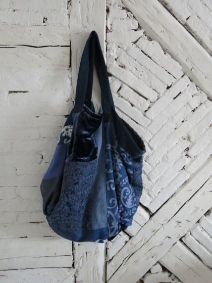 "Tasche "" Unikat"" Jeansblau"