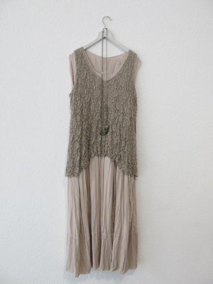 """Kleid """" Erika """" mit Shirt """" Nuovo """" aus Spitze  Kette Labradorith 229.-"""