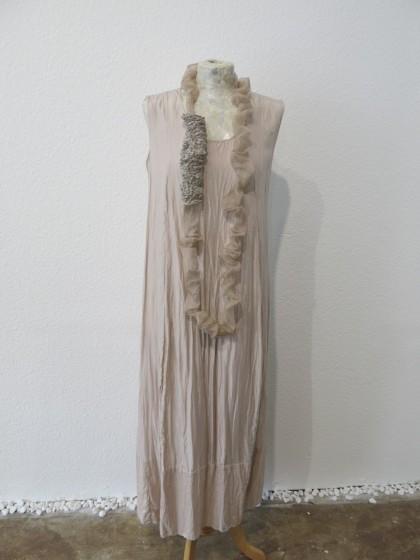 """Kleid """" Erika """" mit Organzakette aus zarter leichter Seide"""