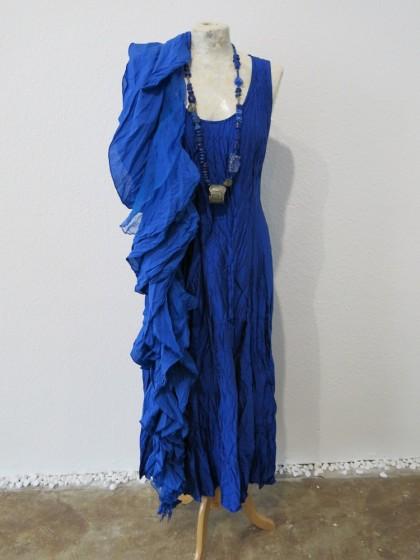 """KLeid """" Aime """" aus Seide ( 120 Farben möglich ) mit Schal """" Oppulenz"""" aus Baumwolle Seide"""